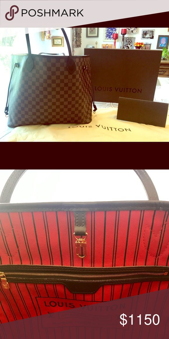 Authentic Louis Vuitton Neverfull GM Damier Perfect condition with dust bag, certificate of authenticity, and box. Used lightly 3-4 times with no evidence of use/wear. Louis Vuitton Bags Totes