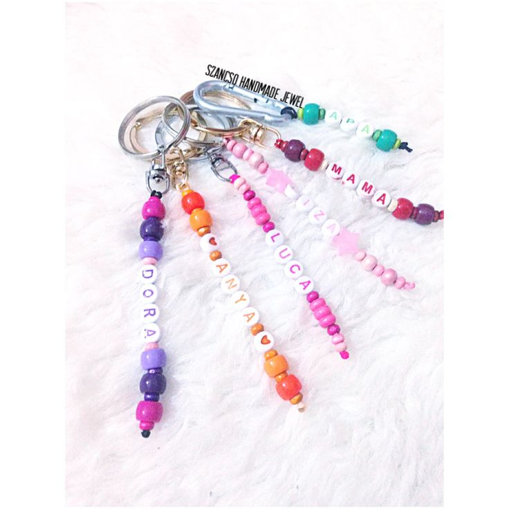 Handmade beads name Keychains - personality , colorful