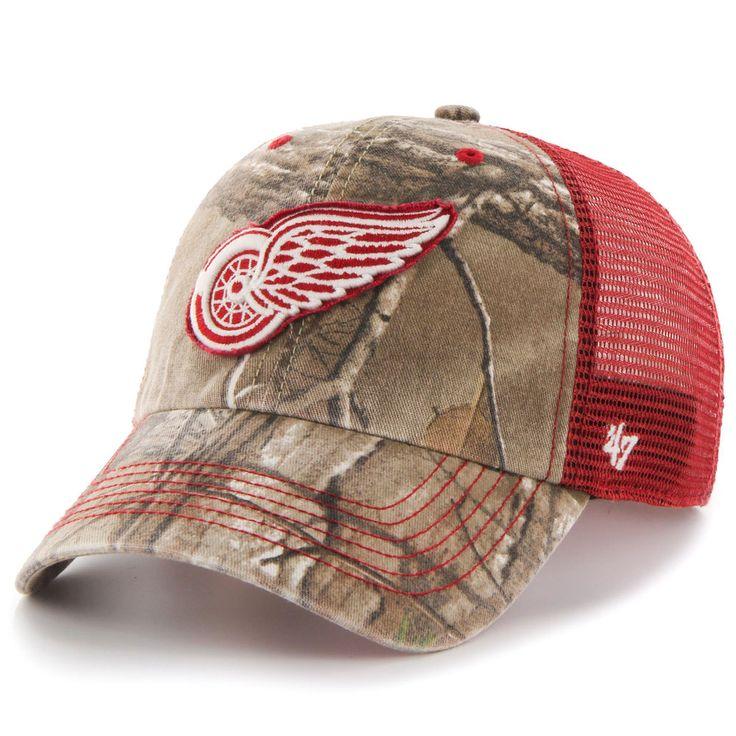 Men's Detroit Red Wings '47 Realtree Camo Huntsman Closer Flex Hat