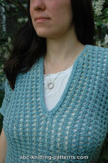 ABC Knitting Patterns - Subtle Mesh Summer Sweater