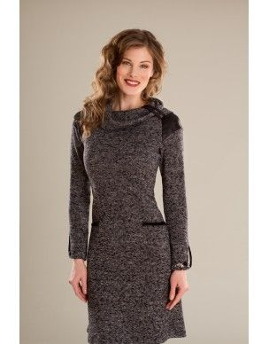Robe/Dress Moka-Crème - KARKASS fashion designer. Mode québécoise / Made in Quebec