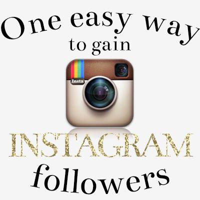 One easy way to gain Instagram followers | ashandcrafts.com