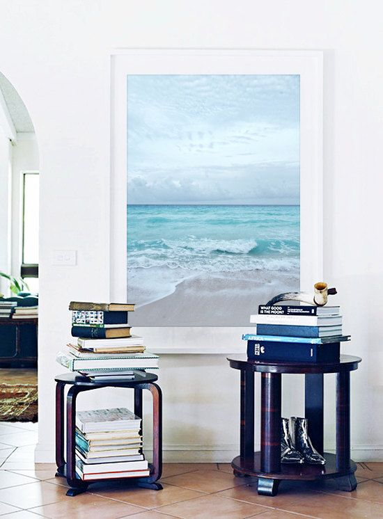 Beach Photography Ocean Sea Summer Aqua Blue by JarrodCorbett, $55.00