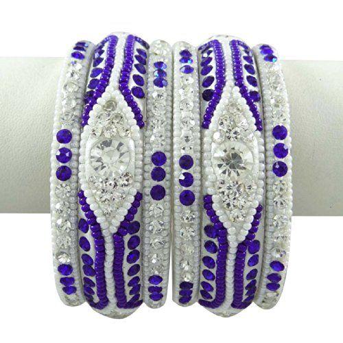 Royal Blue CZ Steinarmband September Kundan Schmuck Damen Ethnische indischen Schmuck 2 * 4 | Your #1 Source for Jewelry and Accessories
