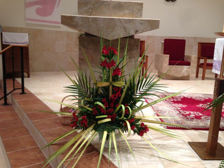 Church Flowers on Palm Sunday