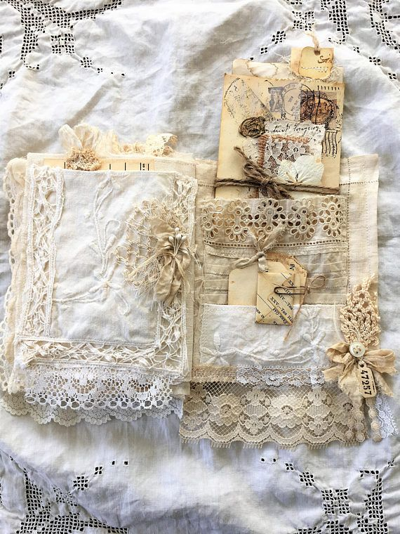Reserved Vintage Linen And Lace Journal Linens And Lace Vintage Linens Fabric Book