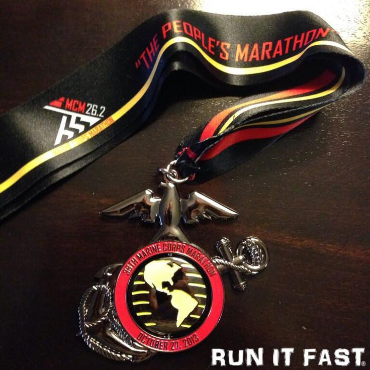 marine corp marathon | This is the finisher's medal for ...