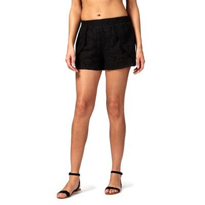 Floozie by Frost French Black lace shorts | Debenhams