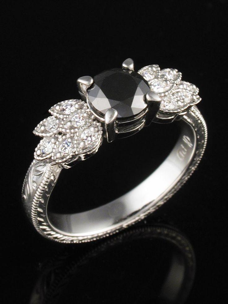 Δακτυλίδια με μαύρο διαμάντι