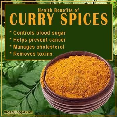 Health benefits of curry spices