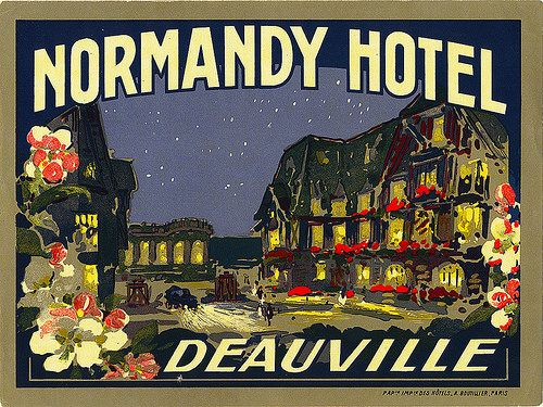 normandy hotel deauville france | Art of the Luggage Label | Flickr