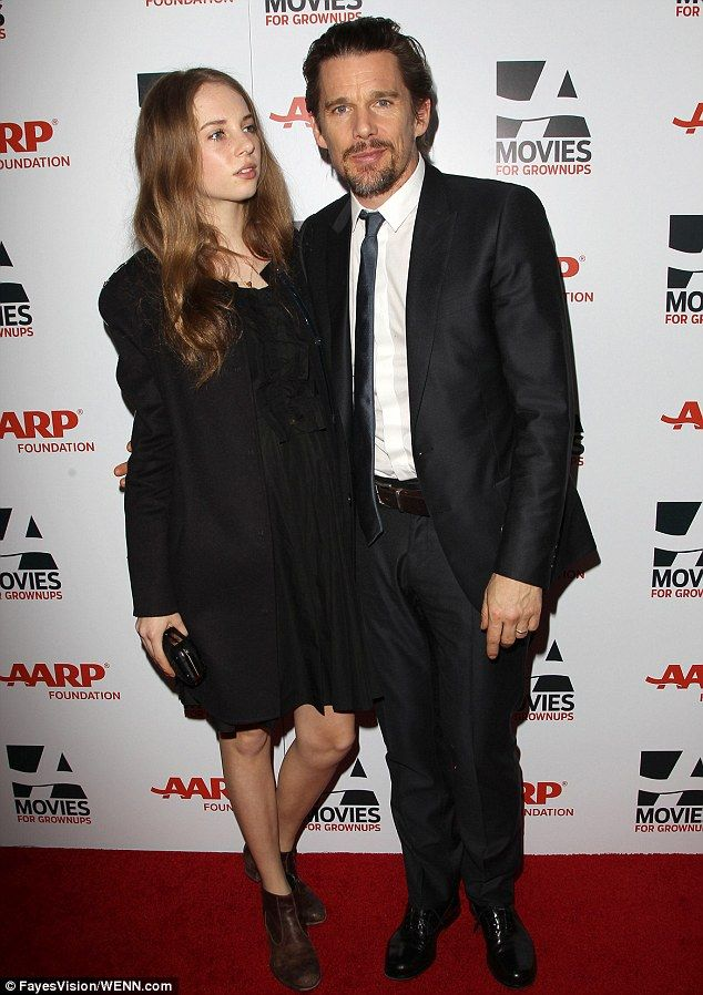 Ethan Hawke brought along his 15-year-old daughter Maya with ex-wife Uma Thurman at the party