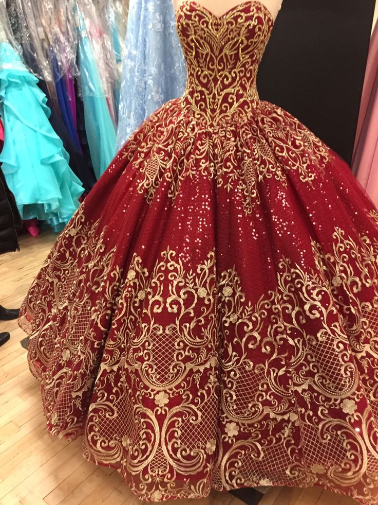 18++ Red black and gold wedding dress ideas
