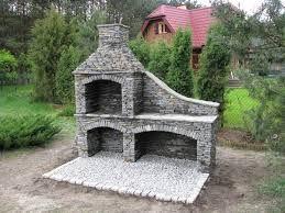 Znalezione obrazy dla zapytania grill ogrodowy z kamienia