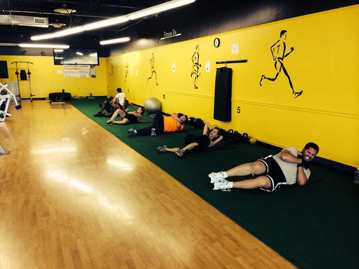 Abs conditioning during boxing class Boxing classes