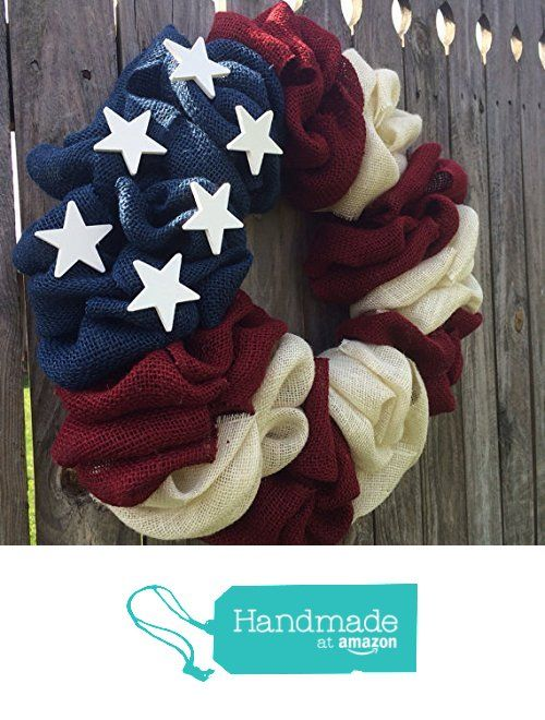 NEW ALL American Flag Burlap Bubble Wreath, Flag Wreath, Burlap Bubble Wreath, Patriotic Wreath from From The Coast 2 The City https://www.amazon.com/dp/B0185XZKE4/ref=hnd_sw_r_pi_dp_uZFFwbGJR3T4B #handmadeatamazon