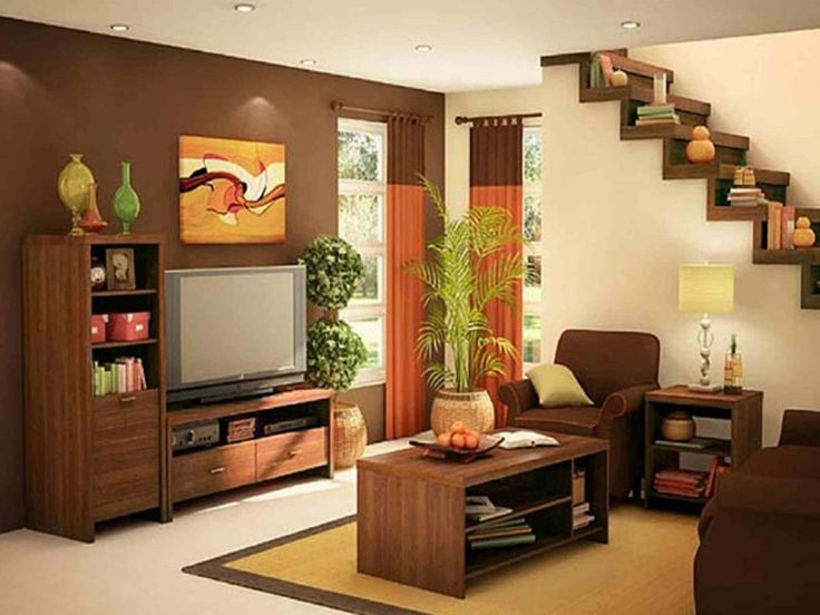Brown Best Living Room Low Budget ~ http://www.lookmyhomes.com/15-best-low-budget-living-room-design/