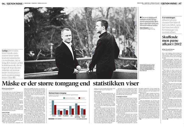 Berlingske d. 09.01.13. Der er mere kontorledighed i København end tidligere antaget. Læs mere ved at klikke på billedet!