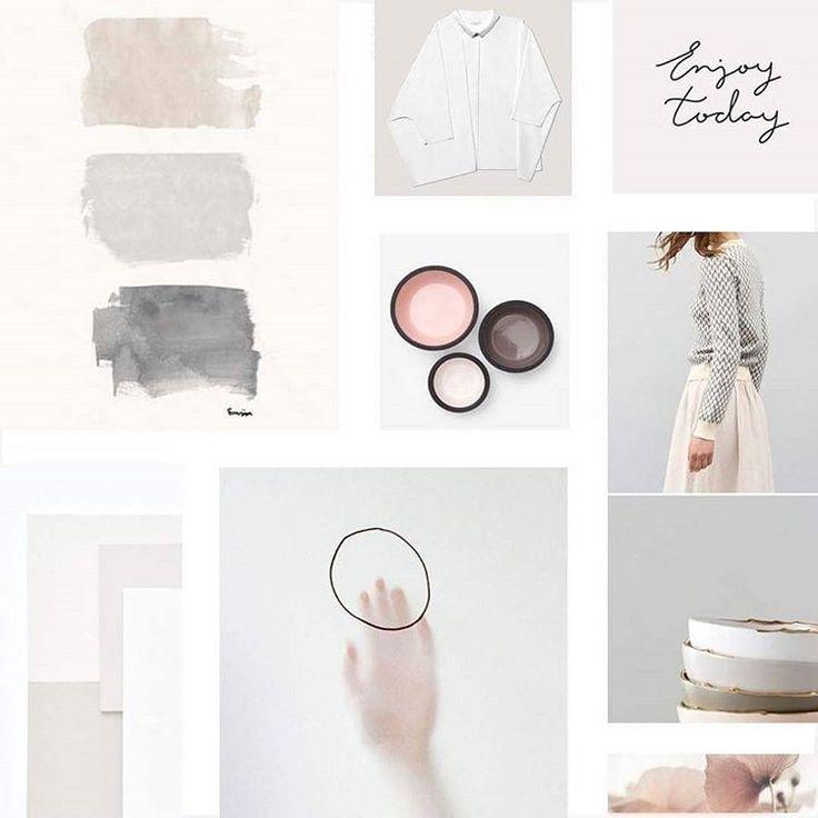 Minimalistic Mood Board #flothemes #pastel #minimalism # ...