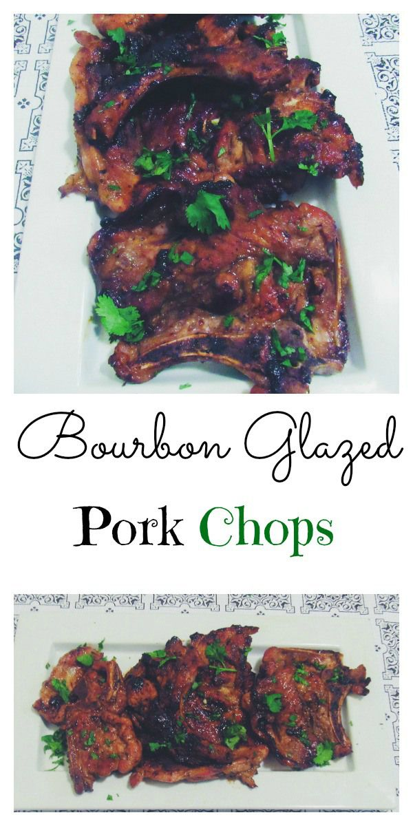 Super easy drunken Bourbon glazed pork chops. Recipe ready in 20 minutes!