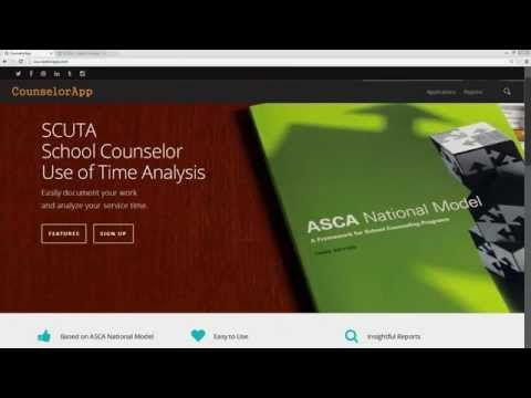 SCUTA Introduction   CounselorApp for Use of Time analysis according to the ASCA National Model