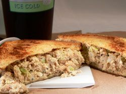 Southern Chicken Salad - the BEST chicken salad recipe for sandwiches.  Ever!   One tweak:  I omit the egg