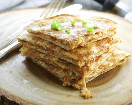 Tuna Quesadilla  Tried this was delicious tried it today. I also think that it would make a great party dip!