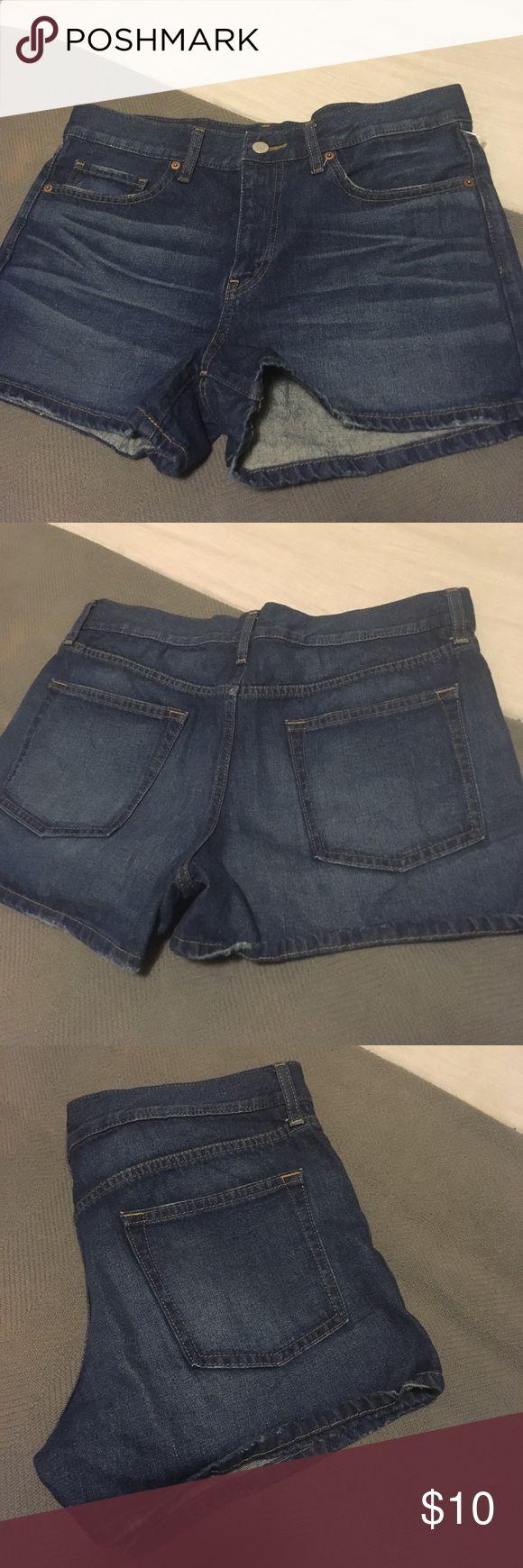 Dark denim shorts Brand new WOT threw tag can't find Uniqlo Shorts Jean Shorts