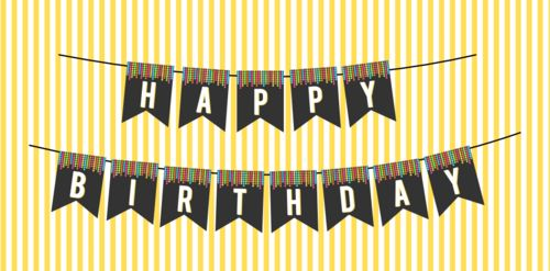 DIY FREE DANCE PARTY HAPPY BIRTHDAY BUNTING - JustLoveDesign