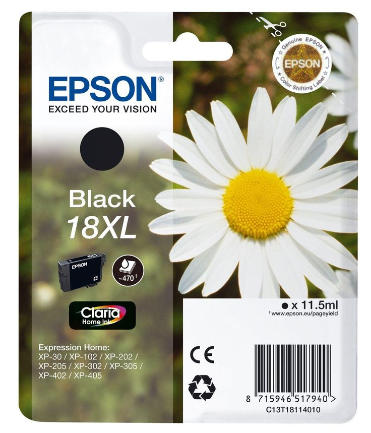 Epson 18xl Daisy Ink Cartridge Black In 2020 Printer Ink
