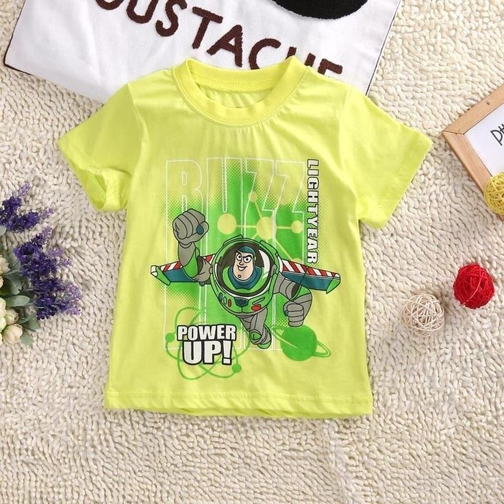 Buzz Lightyear Boy Casual Short Sleeve T-shirt Tee Costume Tops Size 2T-7    eBay
