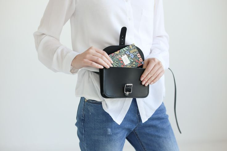 Leather Belt Bag (Black) - NOSKA SHOP