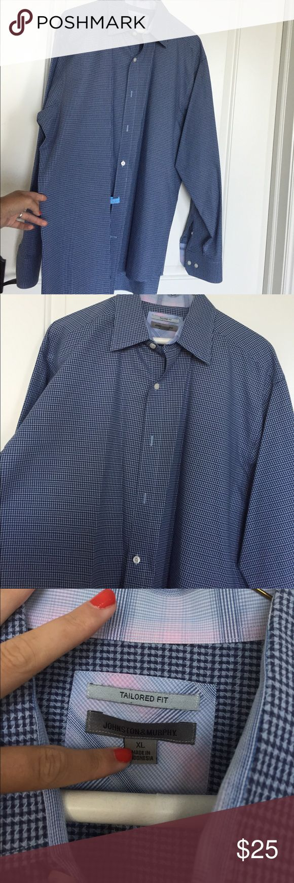 Johnston & Murphy Tailored Fit Tailored Fit Beautiful Blue and Never Worn! Johnston & Murphy Tops Button Down Shirts