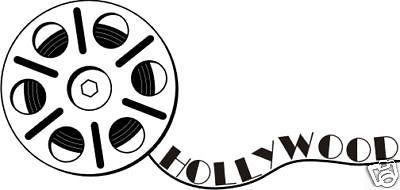 Película pared del vinilo Salon estudio de Interior película de Hollywood del rollo de película arte Mural Wall Sticker estudio de cine de la decoración de la compañía