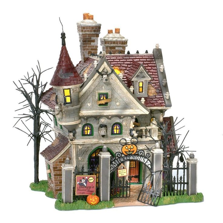 Department 56 snow village mickey 39 s haunted house things for Pinterest haunted house