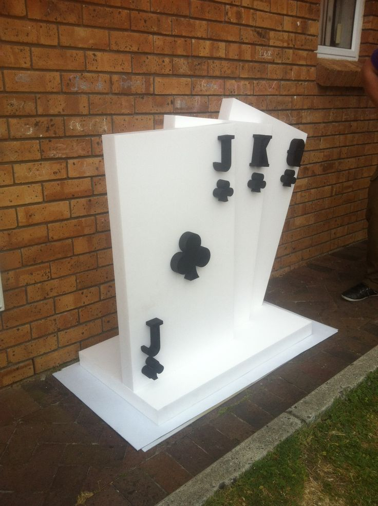 polystyrene props side view