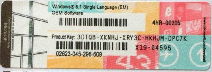 windows 8.1 Single language coa sticker/label/Windows 8.1 ...