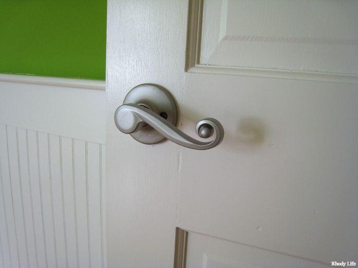 Brushed Nickel Spray Painted Brass Door Hardware