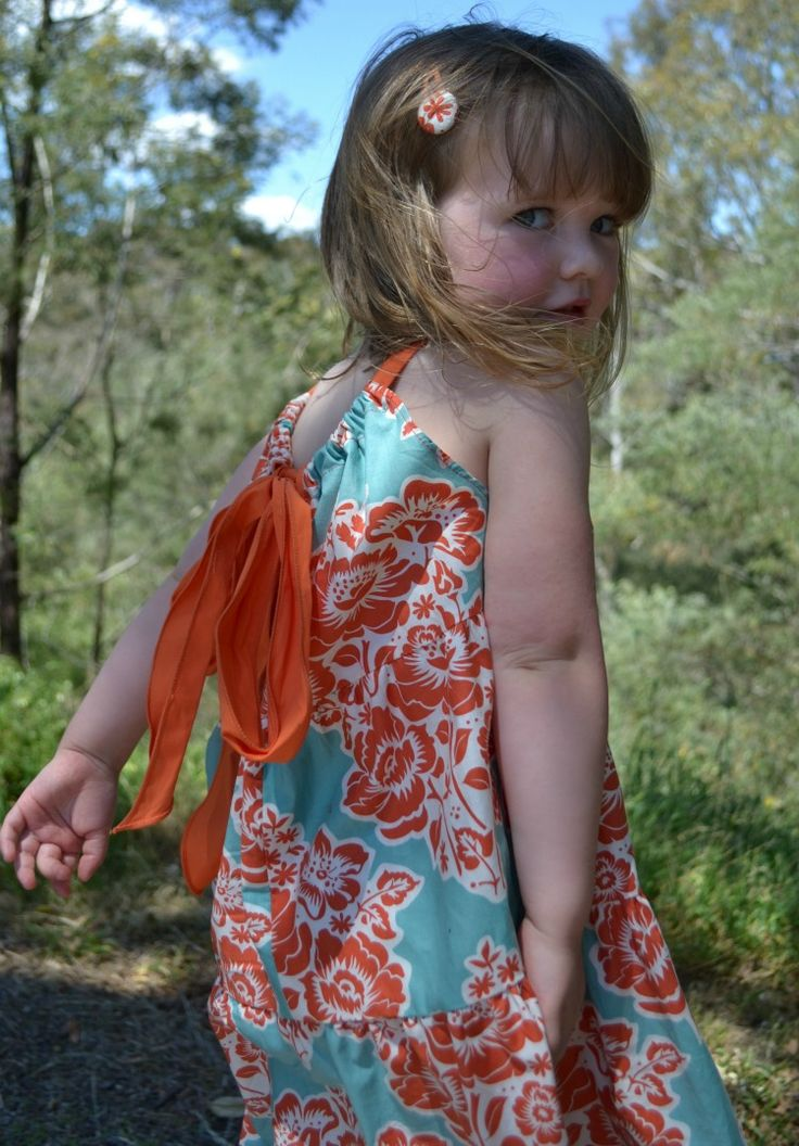 Flower girl's dress, size 3, Red Dot Stitches