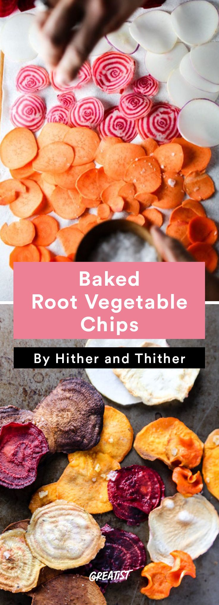2. Baked Root Vegetable Chips #healthy #summer #snacks http://greatist.com/eat/healthy-summer-snacks-that-dont-require-a-cooler