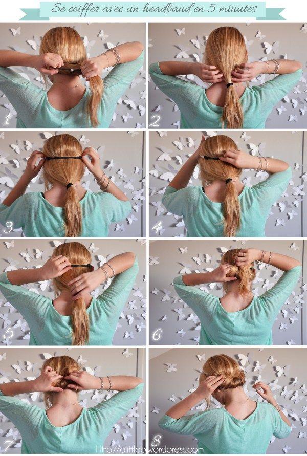 Tuto pour se #coiffer avec un #headband en 5 min