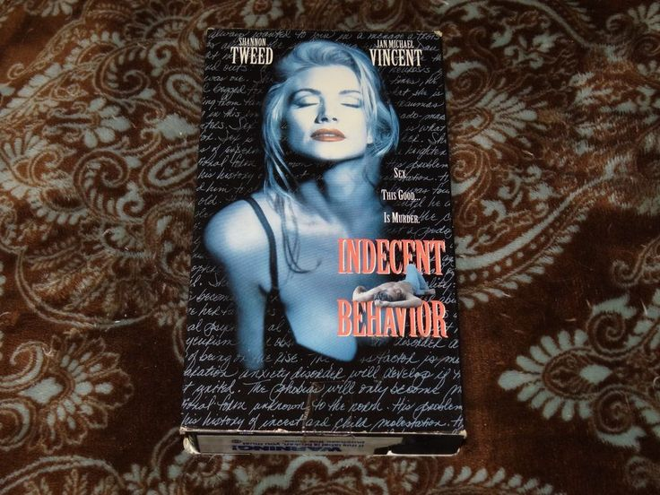 Indecent Behavior (VHS, 1993) OOP Atlantic/Shannon Tweed T&A Erotic *NOT ON DVD*