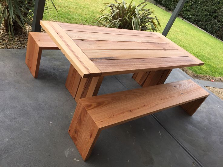 Exceptional Recycled Hardwood Timber Outdoor Setting Design Inspirations
