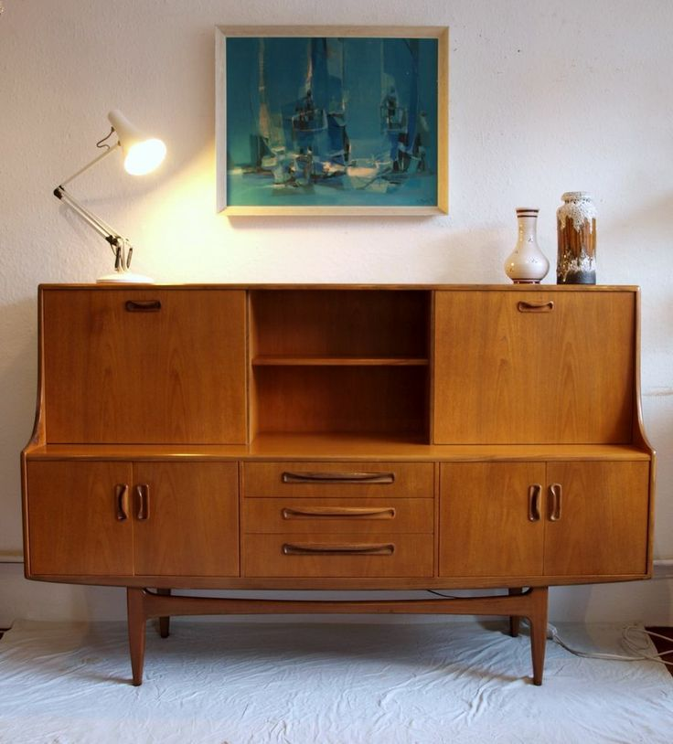 G Plan Fresco Retro Danish Mid Century Teak Sideboard Storage