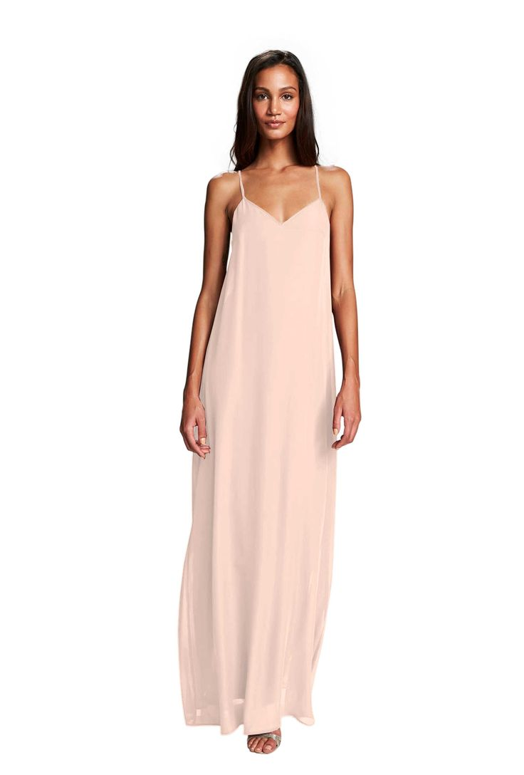 73 best bridesmaids in blush images on pinterest bridesmaids a floor length halter tie chiffon bridesmaid dress in two colors affordable designer ombrellifo Images