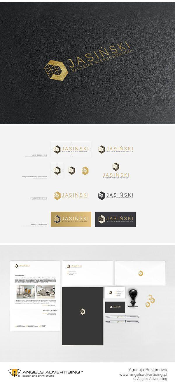 Opracowanie logo i podstawowego zestawu identyfikacji wizualnej dla firmy Jasiński Nieruchomości. #brand #logo #stronainternetowa #identyfikacjawizualna #reklama