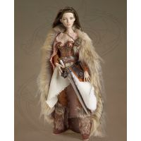 Birla was ready for anything that would come her way. Although the majority of Norse women were responsible only for duties pertaining to the home, having no family of which to speak, Birla was on her own. By dressing in layers she had an ease of movement while maintaining warmth. Her leather pants, fur shawl, and fur boots were a reflection of her Pagan beliefs and the gods of nature she worshipped. Whether farming her land or defending it, Birla held her own against anyone.