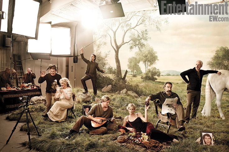 EW's annual Reunions issue, the stars of The Princess Bride — Robin Wright, Cary Elwes, Mandy Patinkin, Billy Crystal, Christopher Guest, Carol Kane, Chris Sarandon, and Wallace Shawn — gathered together for the first time in nearly 25 years for a reunion photo shoot