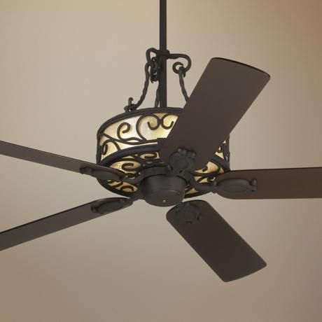 "60"" John Timberland Natural Mica Collection Iron Ceiling Fan 