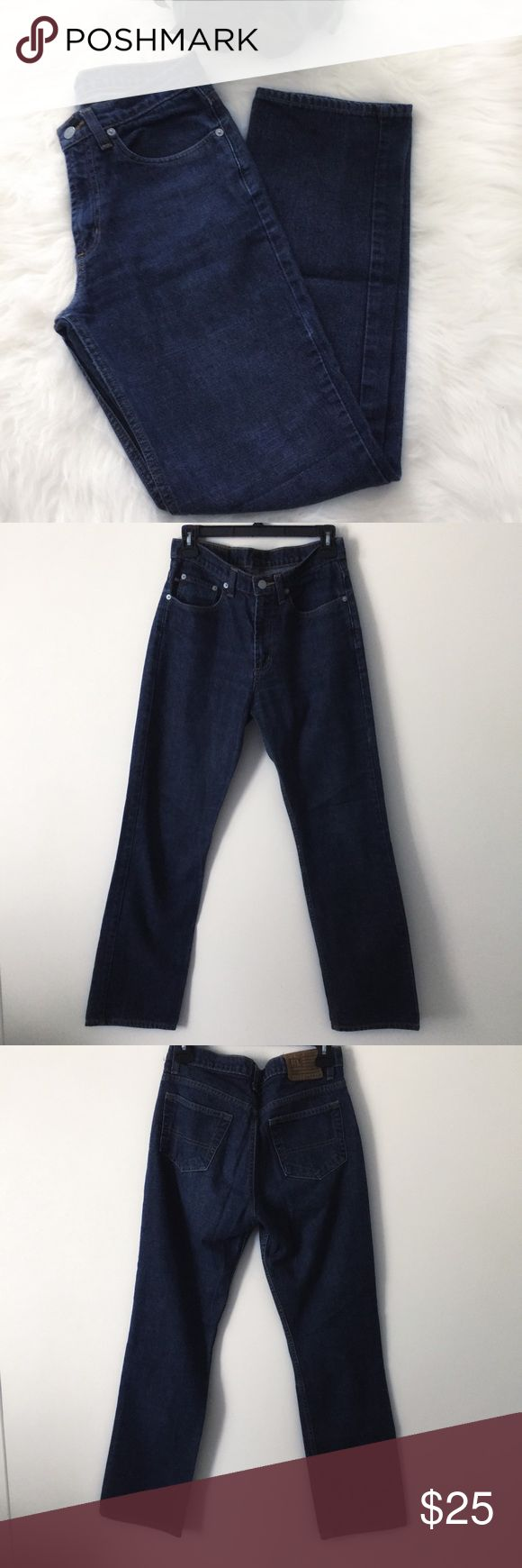 Ralph Lauren Polo Jeans Bootcut Ralph Lauren Polo Jeans inseam:30.5 inches Length:41 inches waist flat 14 inches bootcut. No known or visible flaws. Mid rise. Polo by Ralph Lauren Jeans Boot Cut